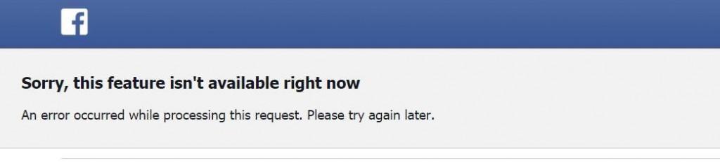 facebook fake-door test sorry