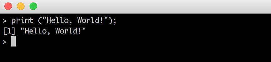 data coding r hello world