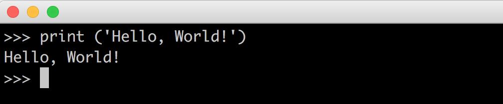 python3 hello world example