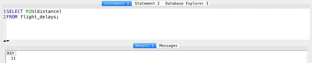 SQL MIN function