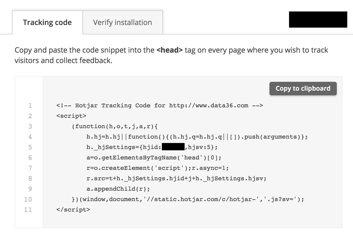 tracking code