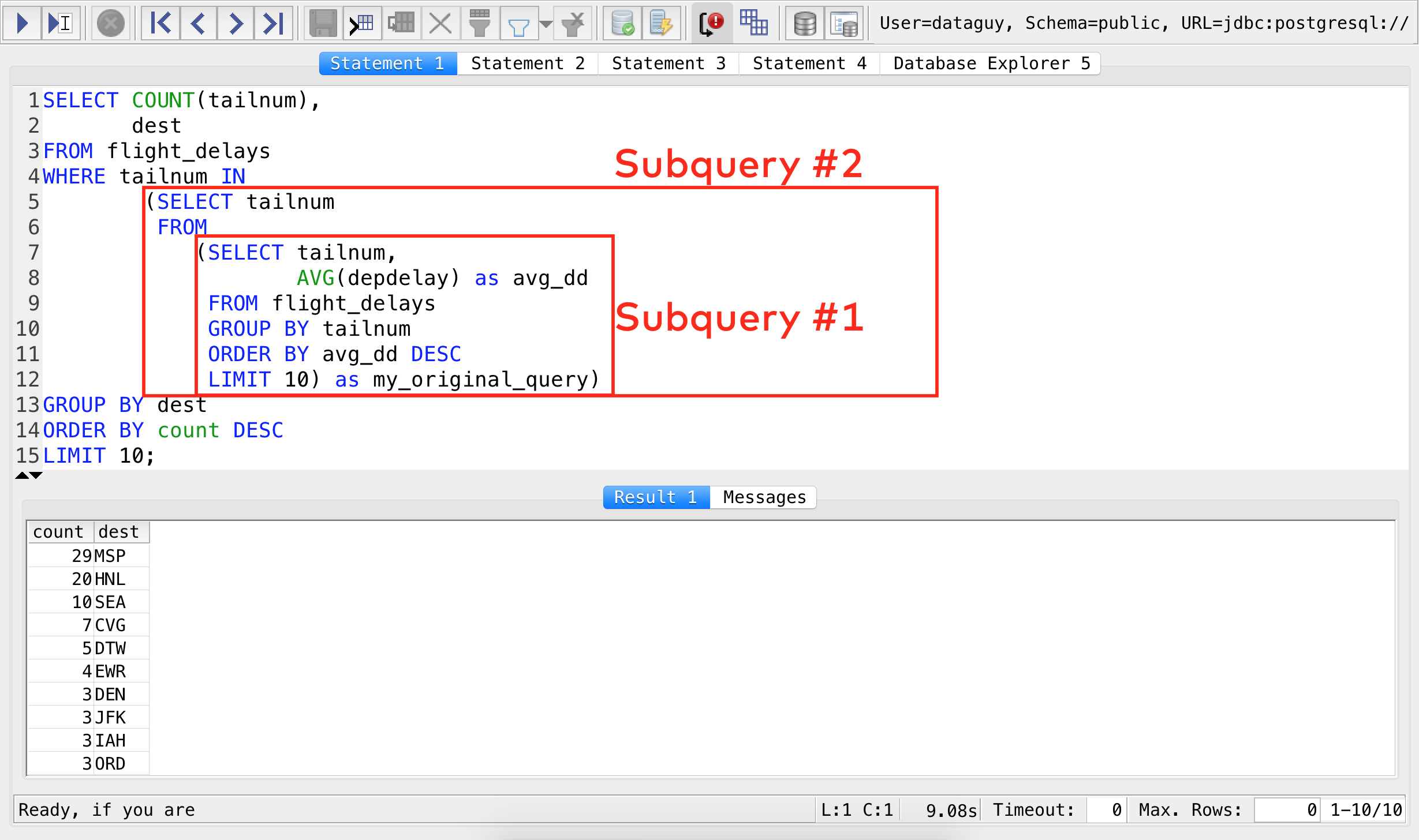 sql workshop subquery 2