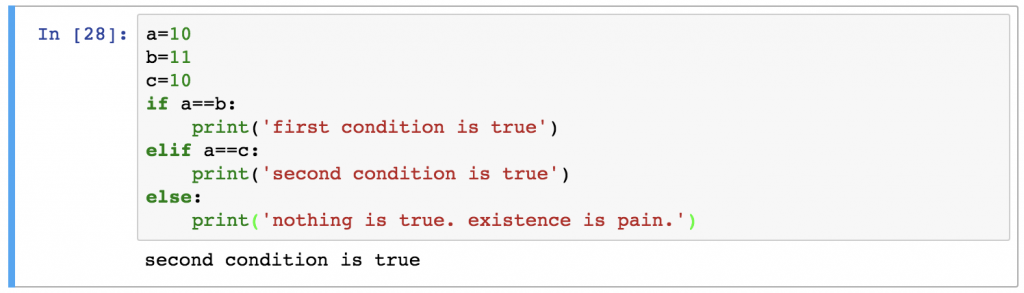 11 python if statement condition sequence