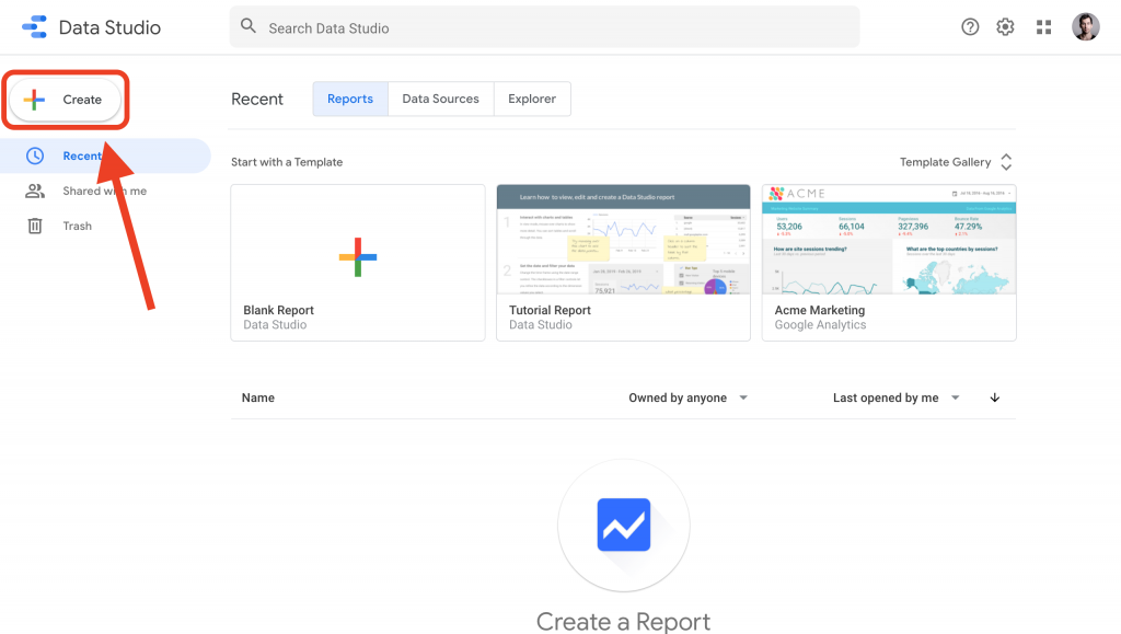 connect Google Data Studio to PostgreSQL -- create