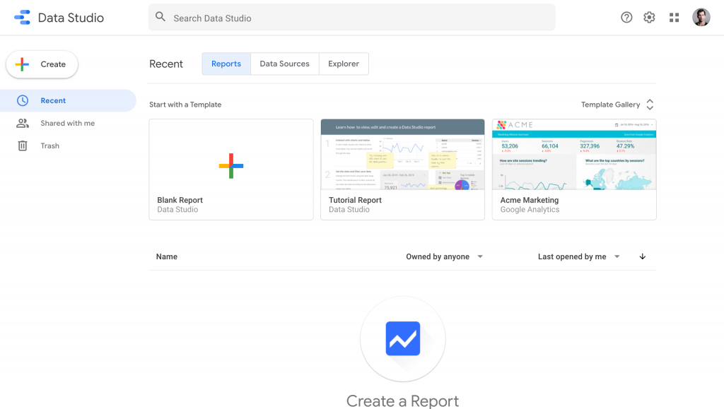 connect Google Data Studio to PostgreSQL -- landing update