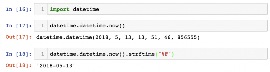 python import statement and built-in modules - datetime