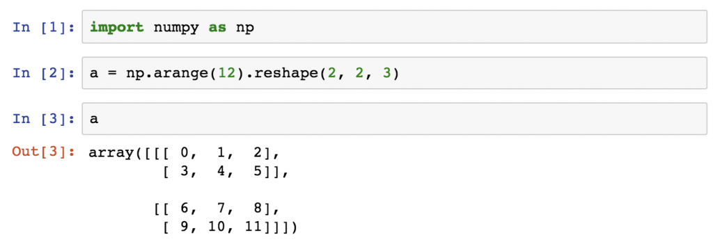 python libraries and packages - numpy array