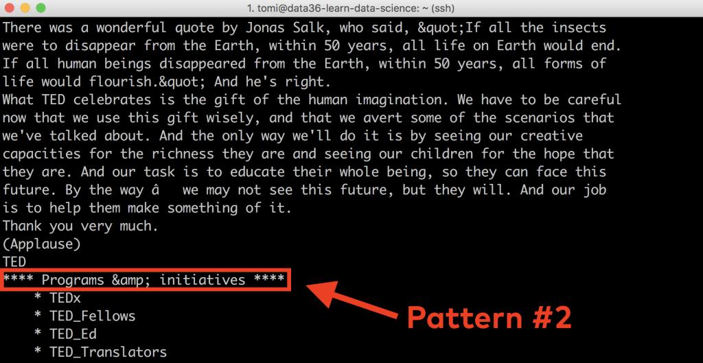 web scraping tutorial 11 - sed pattern 2