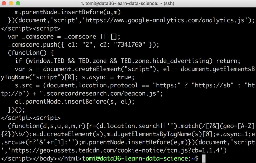 web scraping tutorial 5 -- scraping the transcript