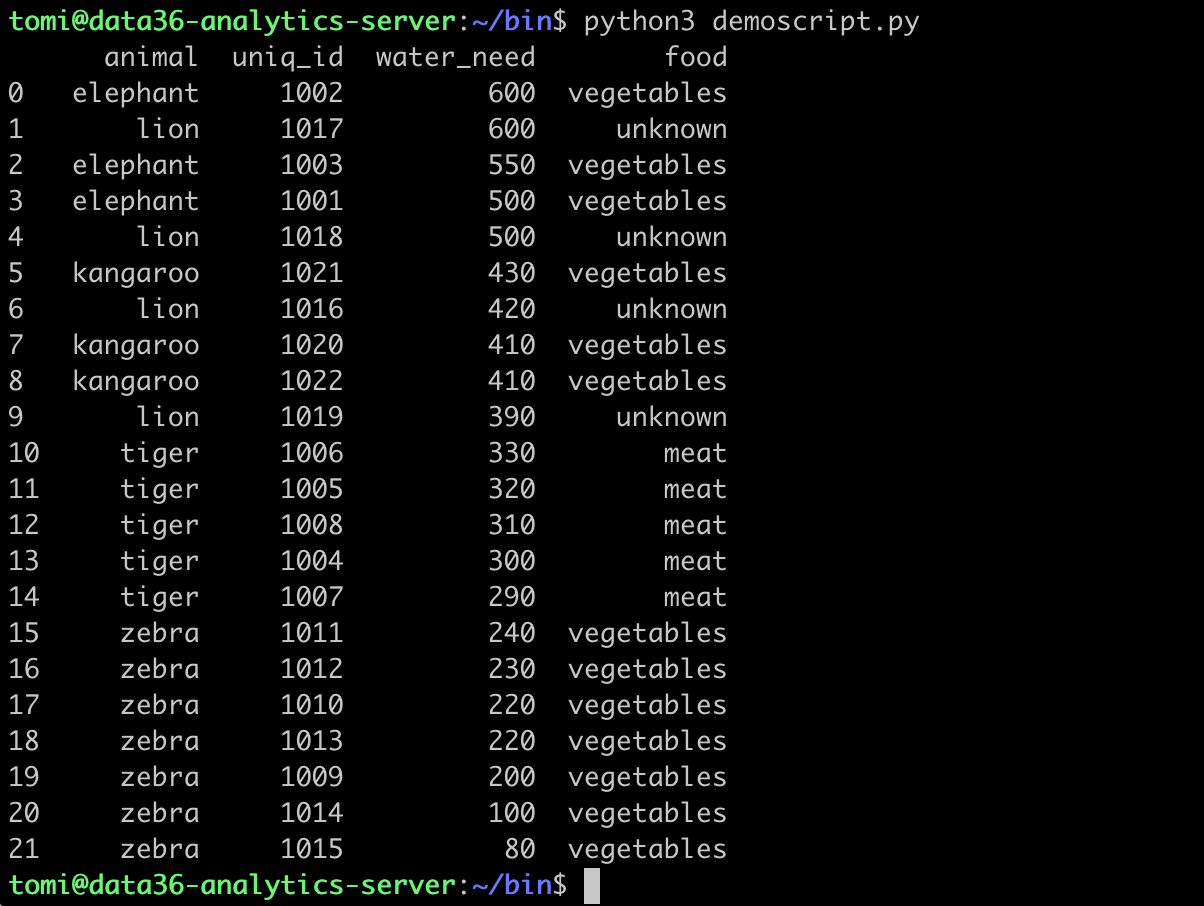 Run python script from command line