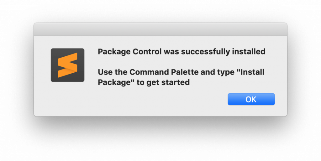 package control installed