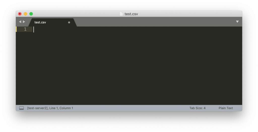 test csv opened in sublime text 3