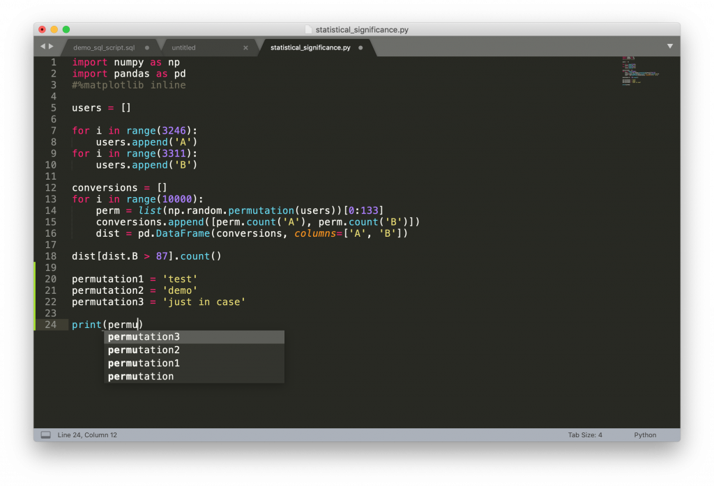 python script in sublime text 3