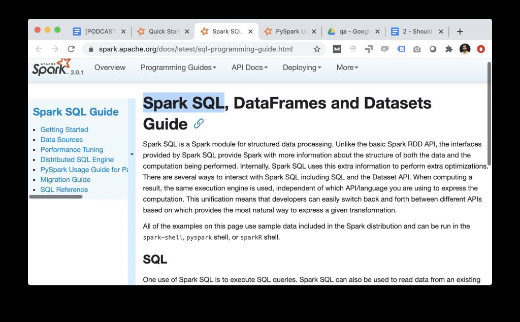 data science big data spark sql