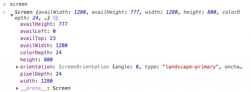 screen data javascript website